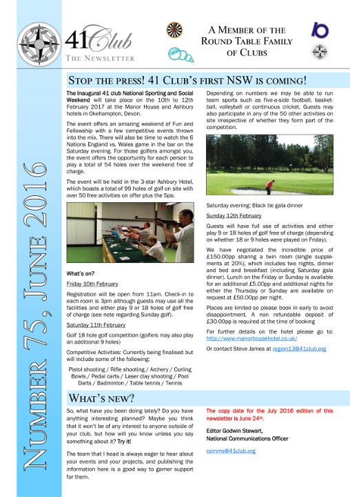41club newsletter
