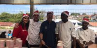 A warm meal and Christmas Gifts for more than 300 children [Bruce McKay]