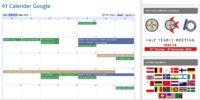 41 International events now as Google calendar!