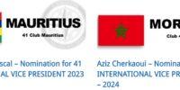Nomination for 41 INTERNATIONAL VICE PRESIDENT 2023 – 2024