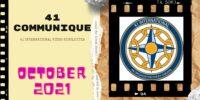 41 INTERNATIONAL Video-Newsletter October 2021